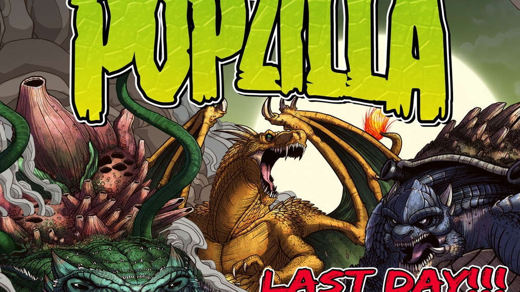 A crossover art book featuring iconic characters from film, video games, comics and more, re-imagined as terrifying Kaiju!
