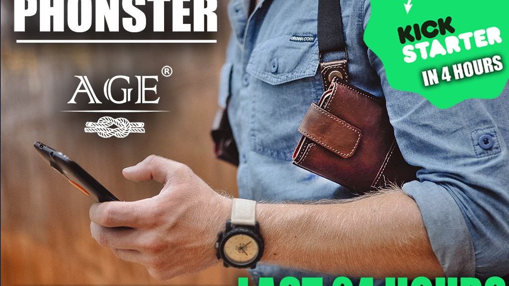 """Phonster"" is the greatest holster for your essential needs! project video thumbnail"