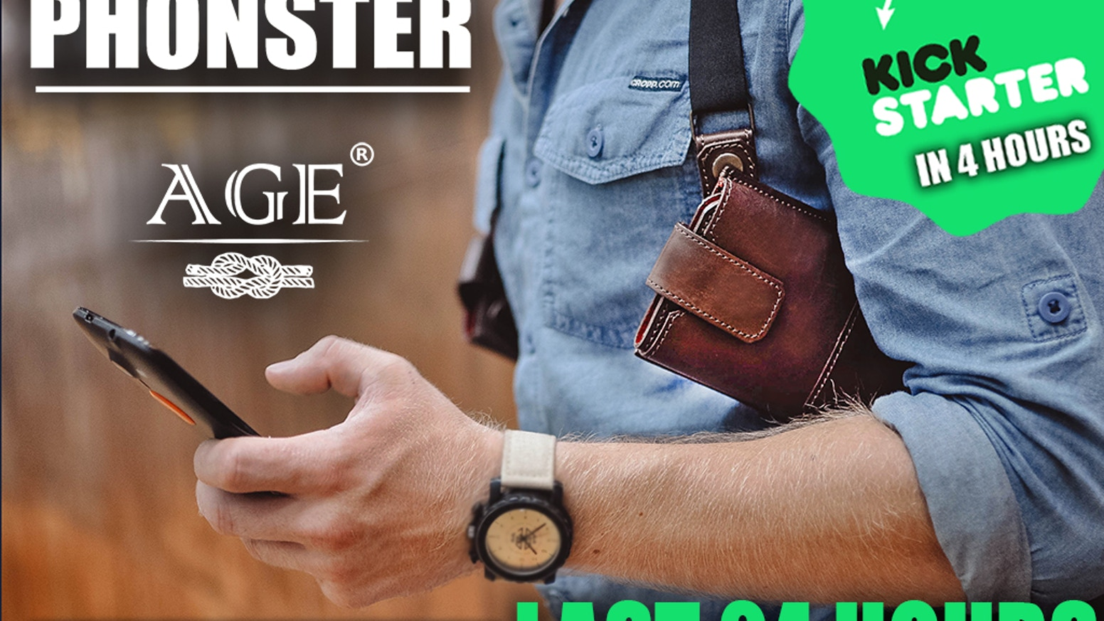 Premium handcrafted holster for your phone, wallet and keys. Feel absolutely free in your daily activity.