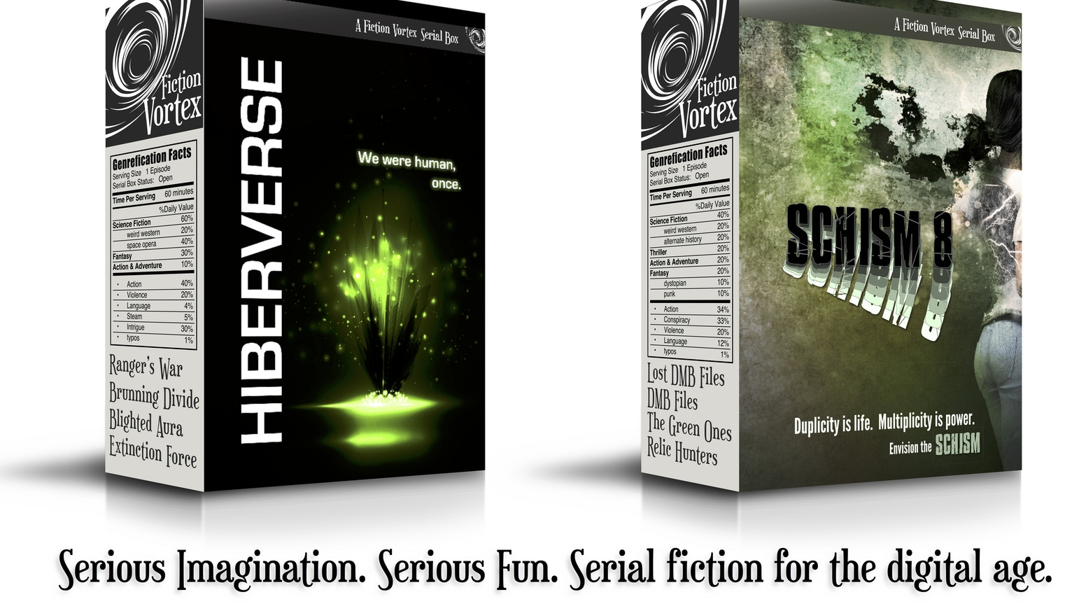 Netflix meets Amazon Kindle. Collaborative sci-fi/fantasy storyworlds in serial. Your sole source of fiction.