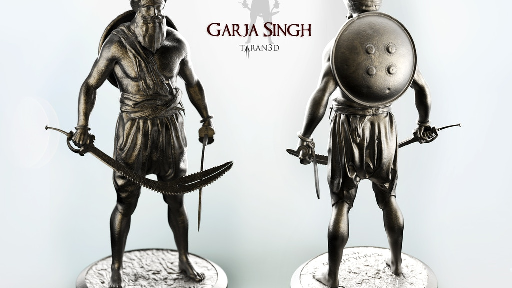 18th Century Sikh Warrior Statue - Garja Singh project video thumbnail
