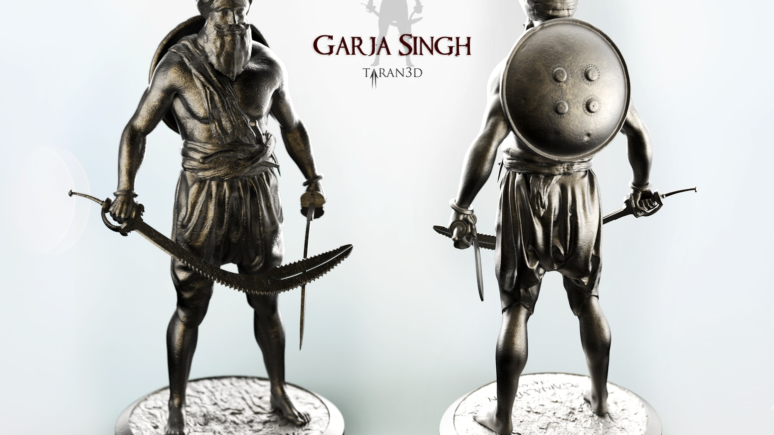 "Help me produce these 12"" (30cm) statues of famous 18th century Sikh warrior Garja Singh in cold cast bronze and get one for yourself"