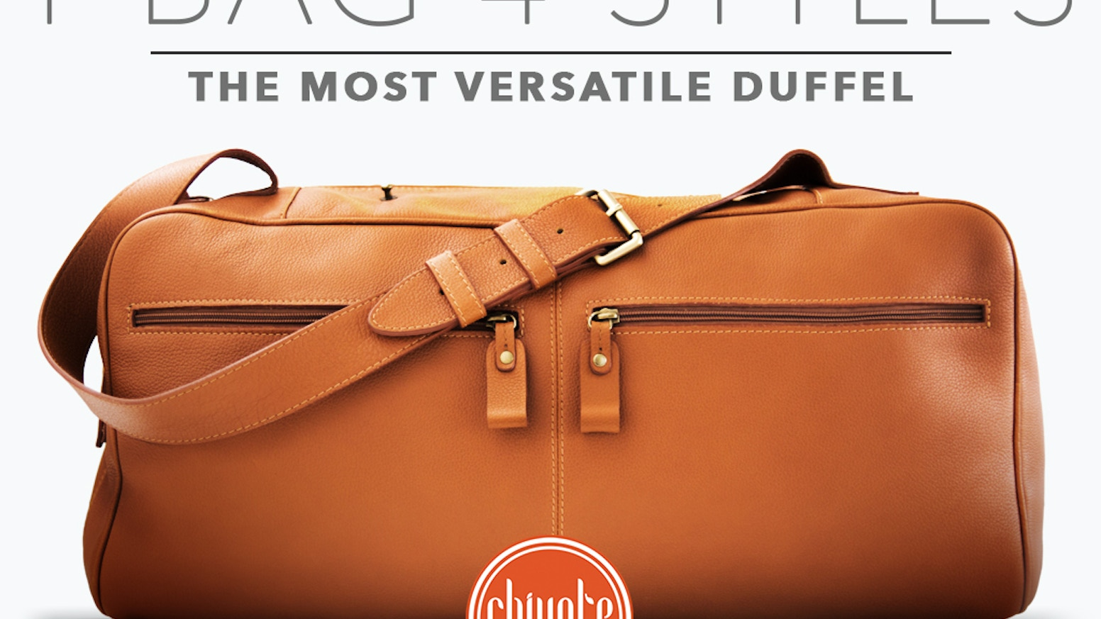 The 4Style Duffel | Good looks, durability and versatility, everything you want in a leather travel bag!