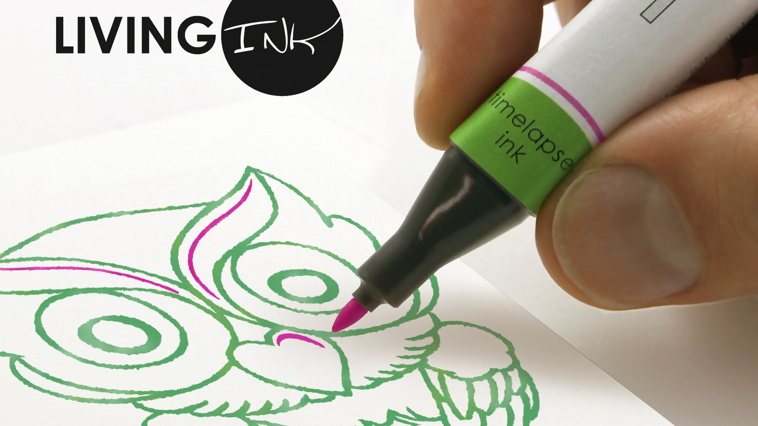 The world's first ink that grows—revealing what you write, sketch, or paint over several days.