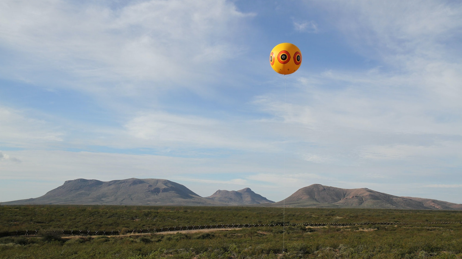 Postcommodity presents a temporary 2-mile long land art installation intersecting the US/Mexico border, Oct. 9-12, 2015.