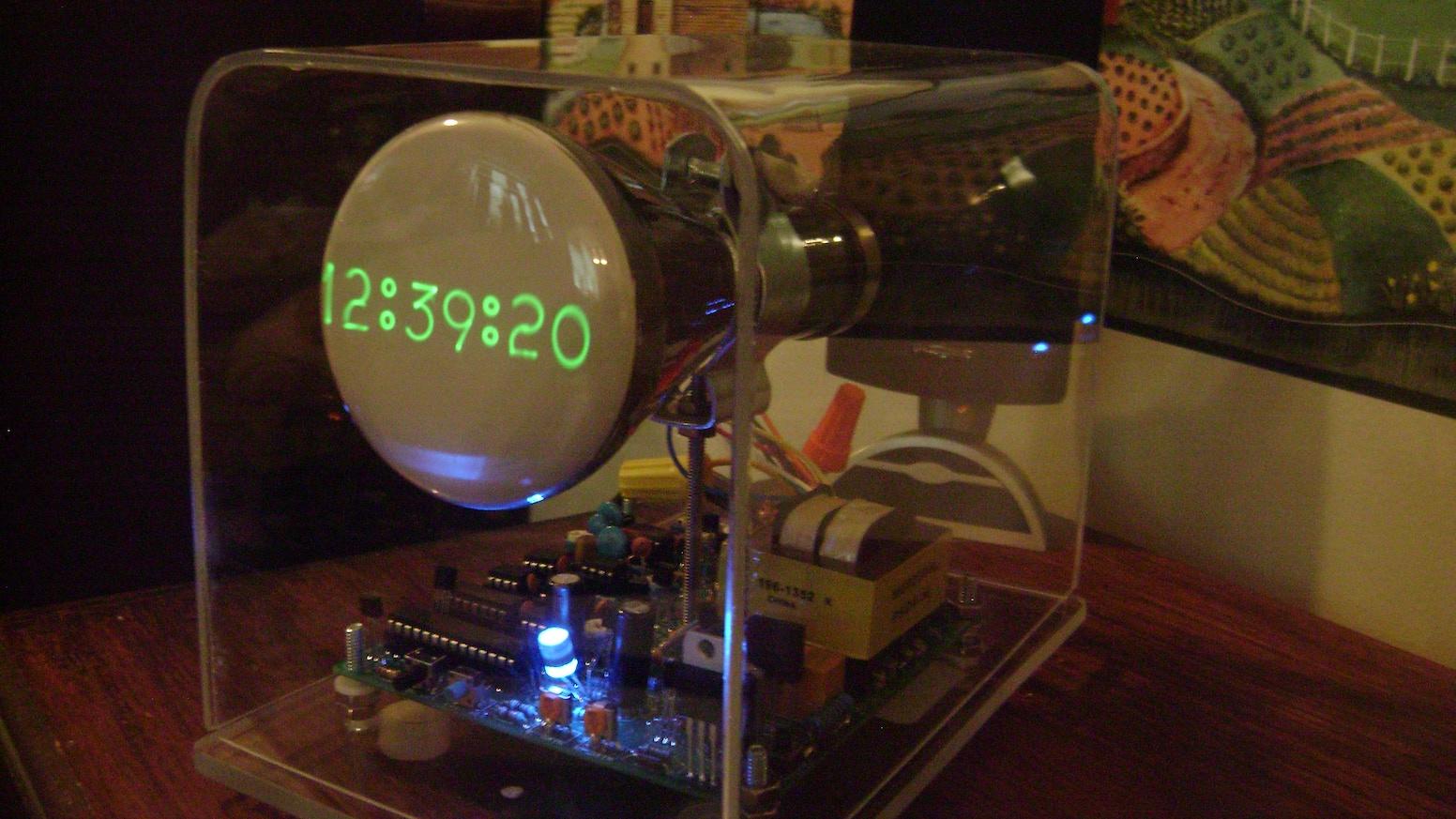 The Oscilloscope Clock III Analog Version by Howard