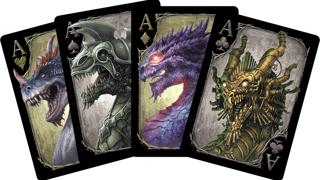 Dragons Playing Card Deck printed by USPCC project video thumbnail