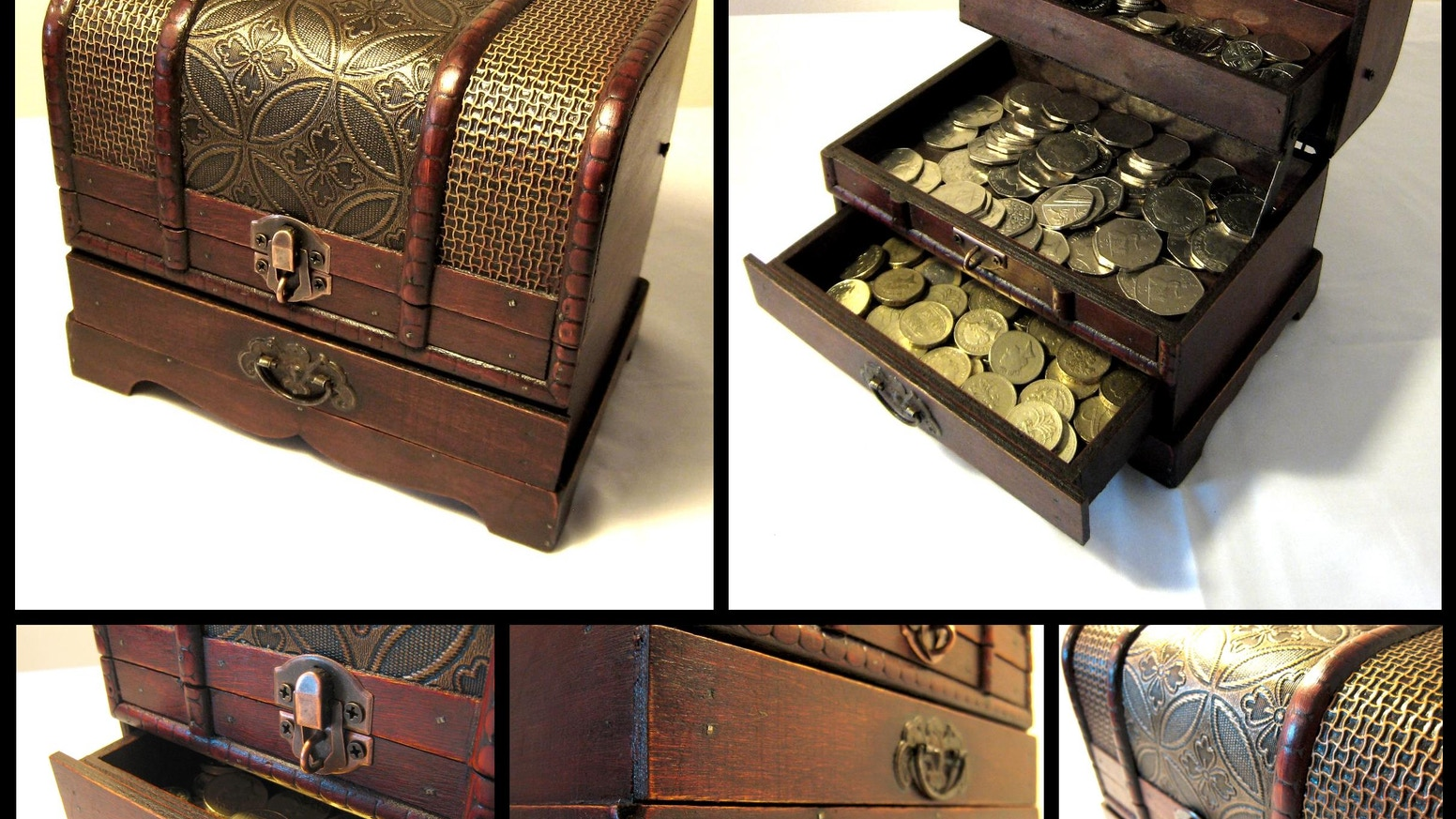 THE TREASURE CHEST for storing your Fantasy Coins, Bars, Dice, Counters and Tokens!