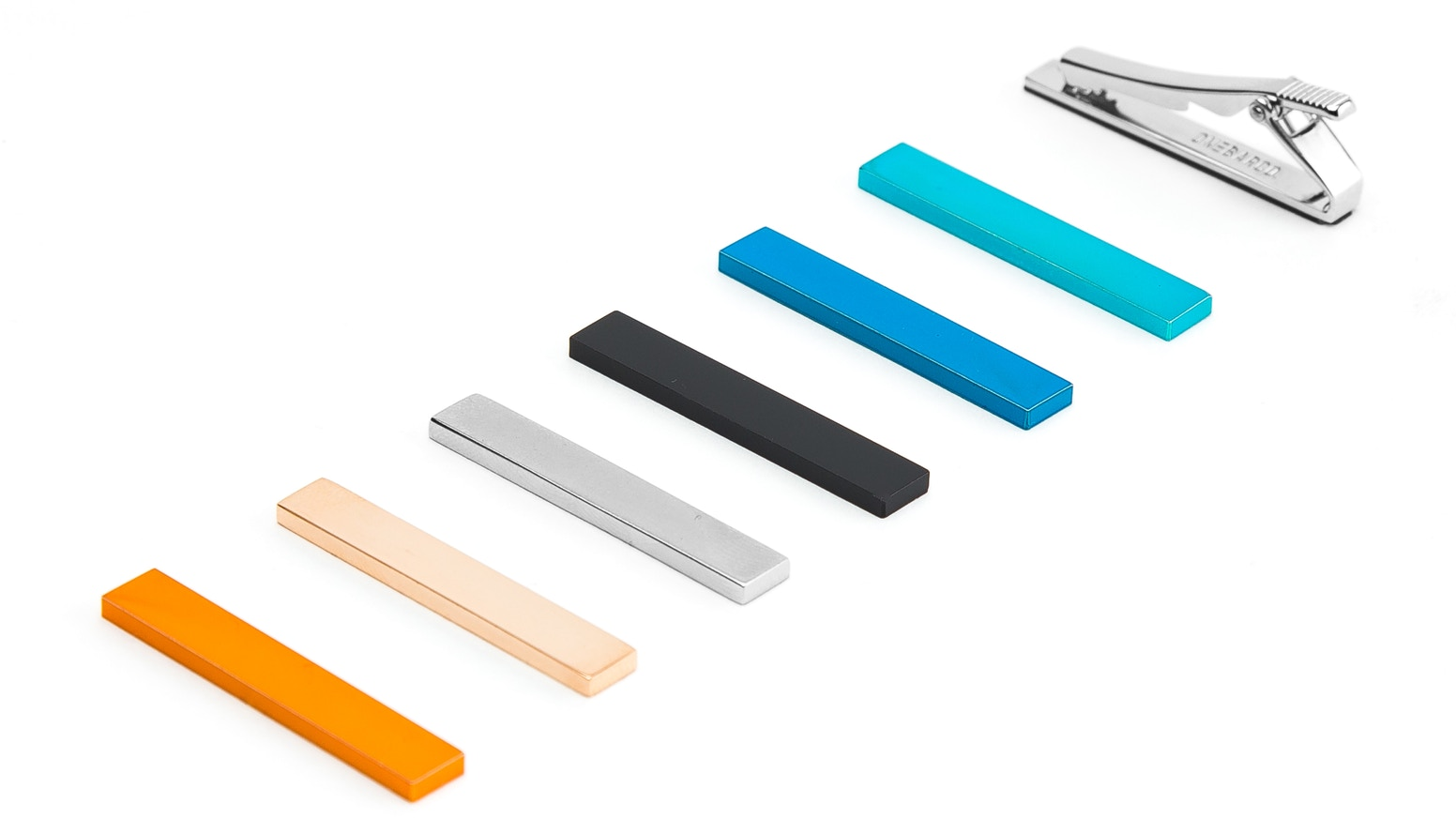A patent pending magnetic interchangeable tie bar with endless options.  It's the only tie bar you will ever need - change your look by simply snapping on a cover! ORDER BELOW!
