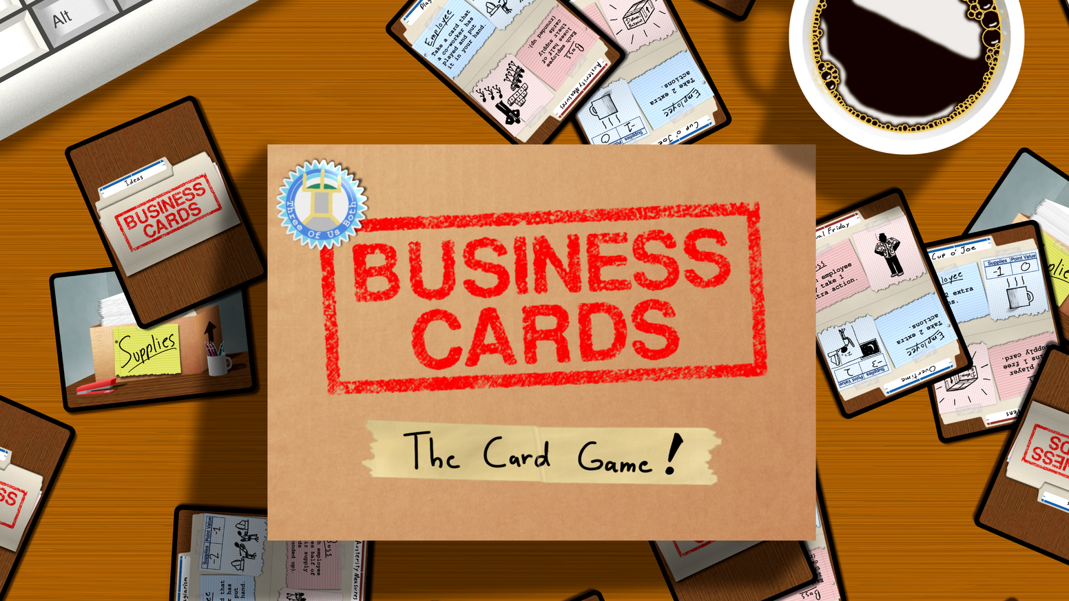 Business cards the card game by three of us both kickstarter business cards is a fun strategic family friendly game that puts players into the roles of competing office employees colourmoves