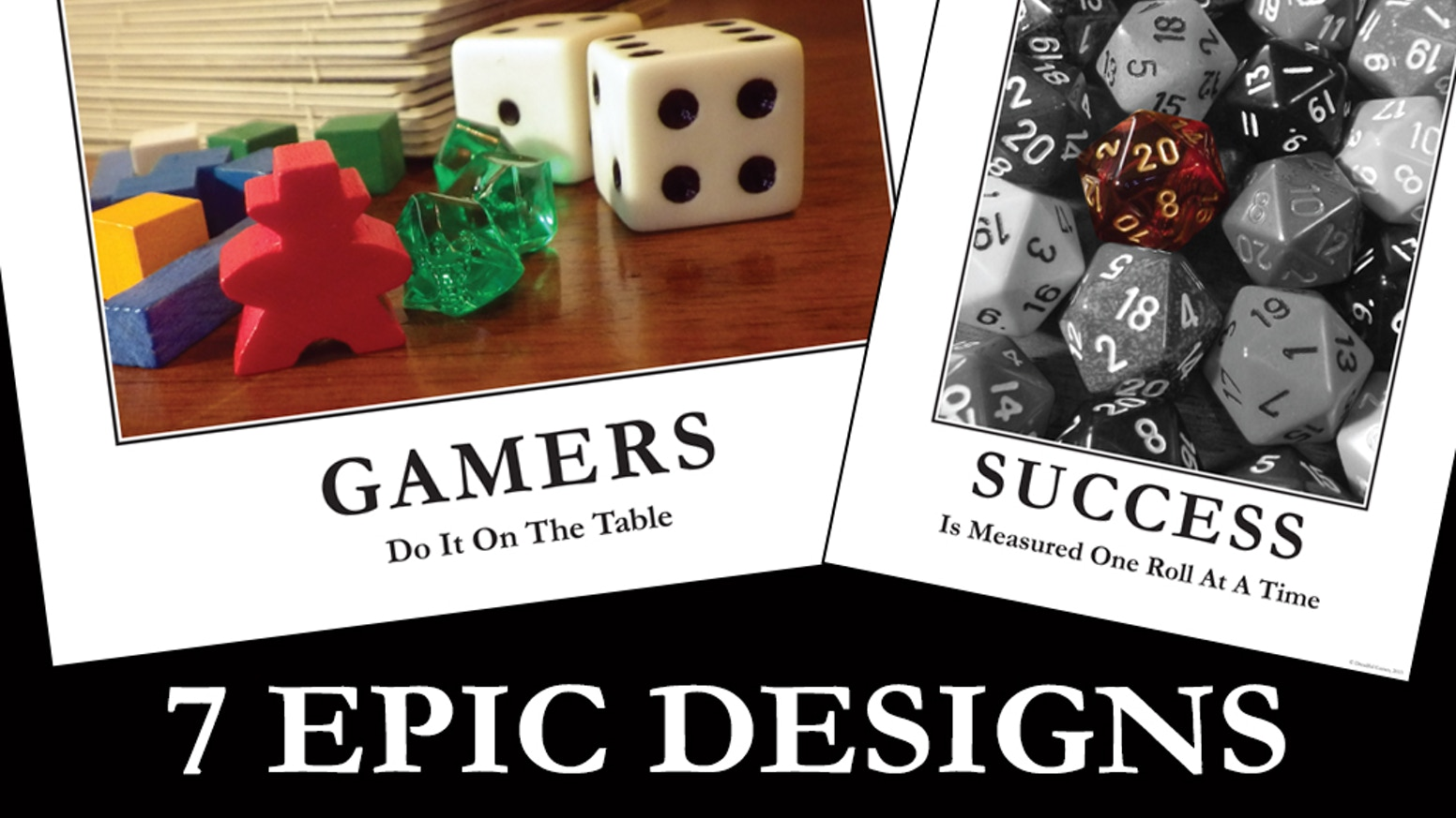 epic board game rpg posters by adrienne ezell kickstarter