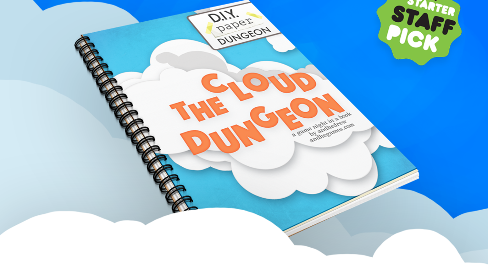 The Cloud Dungeon is a paper craft game-night-in-a-book that you cut apart as you play.