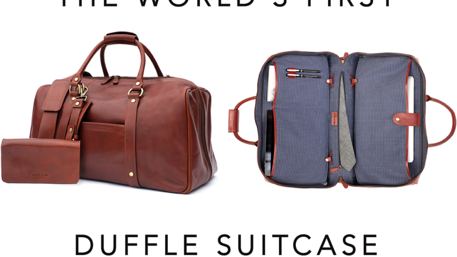 The World S First Duffle Suitcase Premium Bag 19 Features By Wool Oak Kickstarter