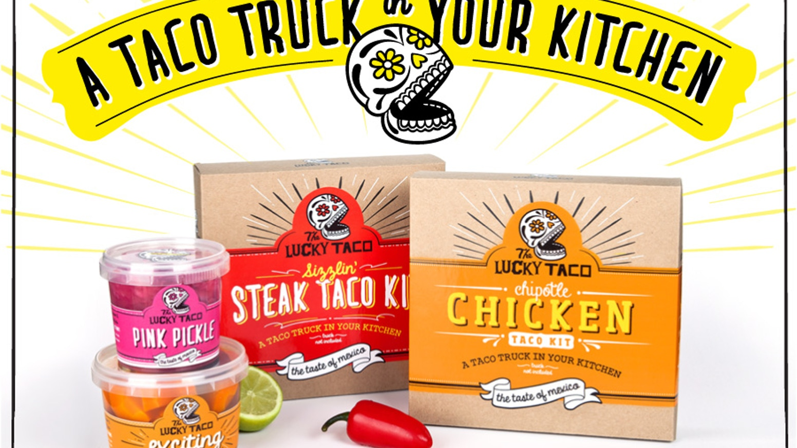 Lucky Taco Kits are the fresh, tasty & authentic alternative to what's out there. Enjoy Lucky Tacos at home - any night of the week!
