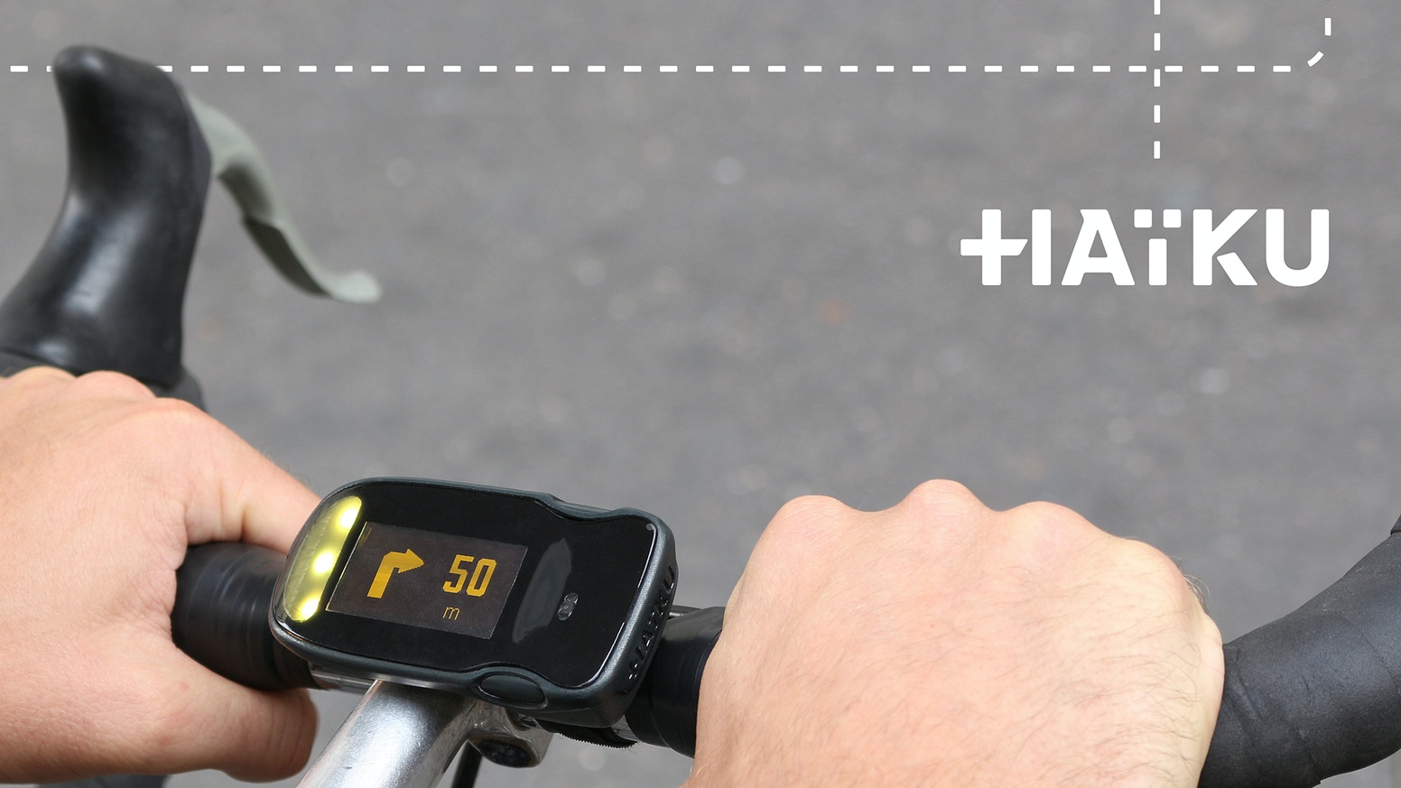Next generation of bike computer for smart urban cyclists: get on your handlebar just the info you need from your smartphone.