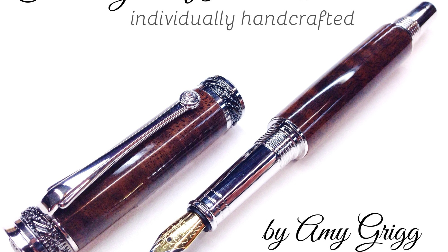 Customized Wooden Pens By Amy Grigg Apex Pen Sale Kickstarter