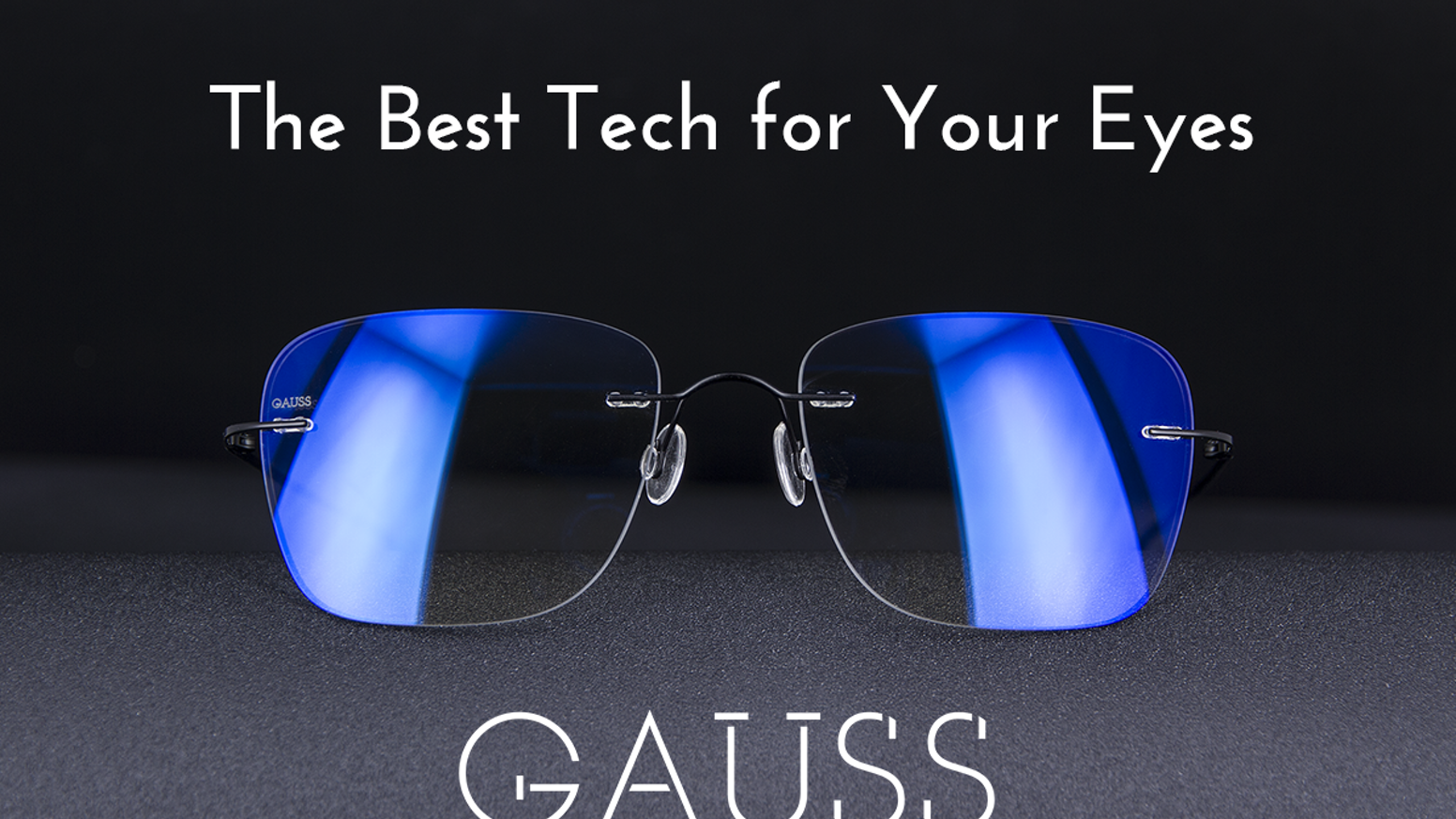 Gauss glasses protect your eyes in front of screens and outside with self-tinting lenses and a new, proprietary coating technology.