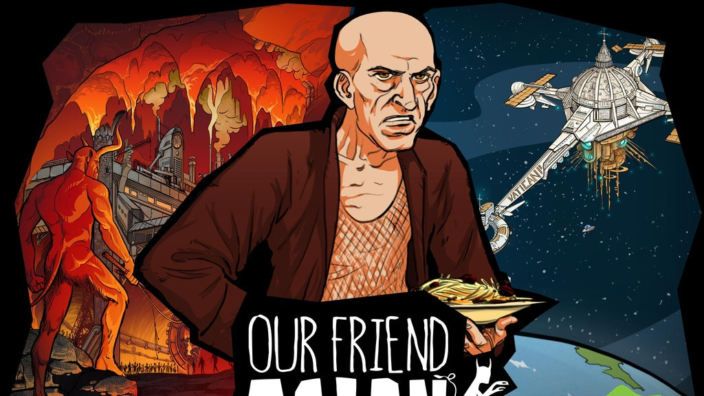 OUR FRIEND SATAN - graphic novel project video thumbnail