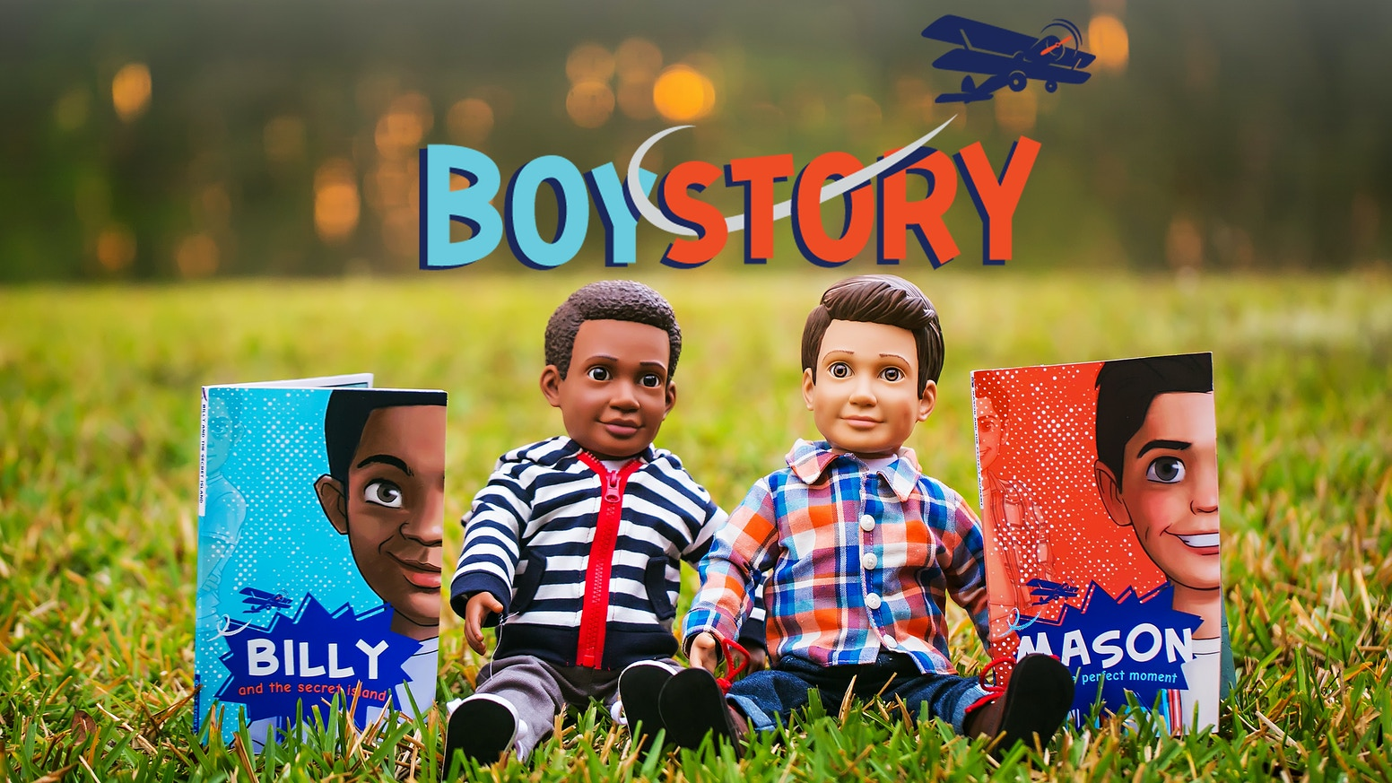 "Boy Story introduces cool 18"" boy Action Dolls and adventure stories for all kids, breaking down barriers in the one-sided doll market."