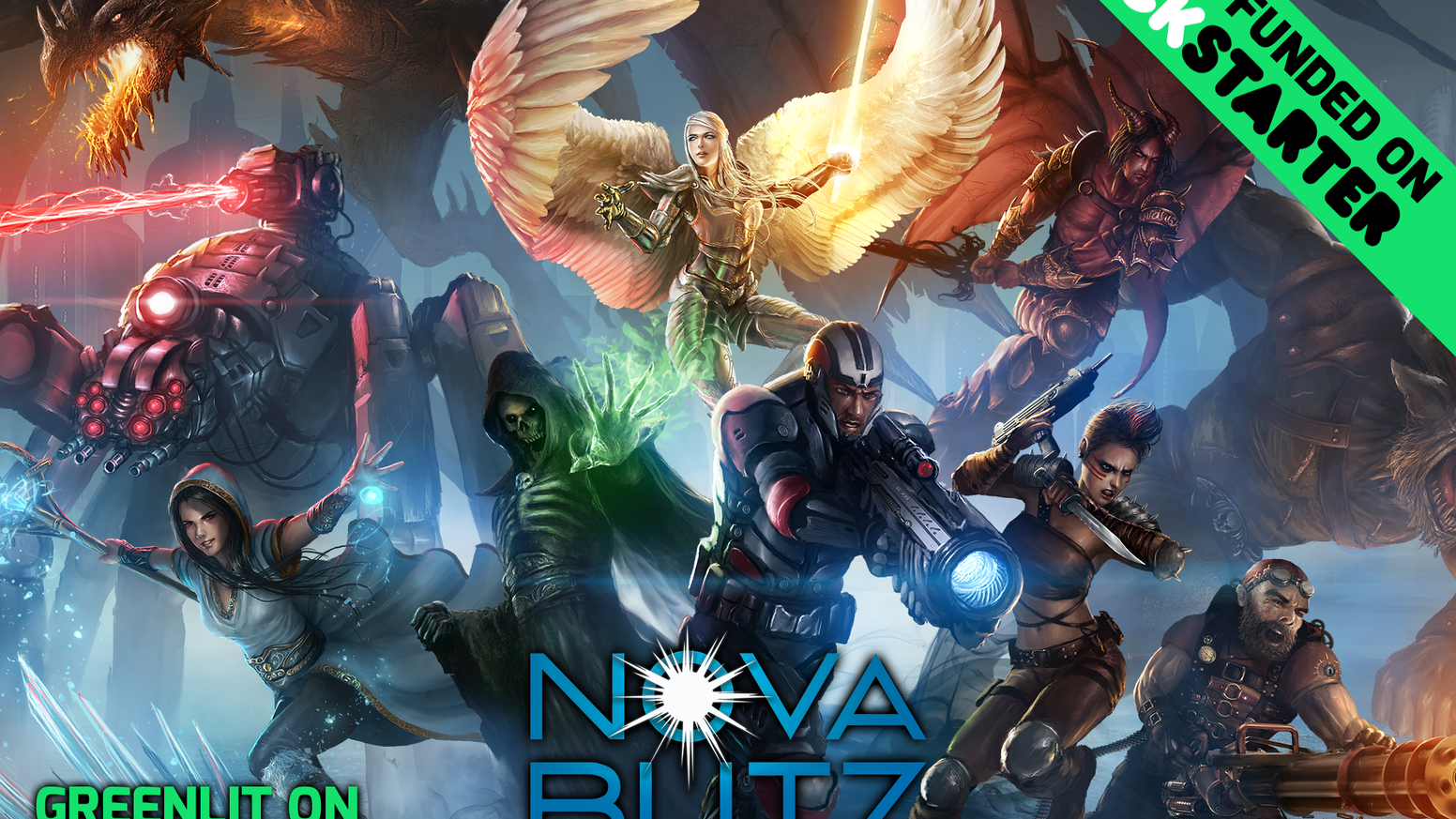 An innovative new CCG. Games are quick, with simultaneous real-time play, and combat that rewards intelligence and bluffing. Nova Blitz is live on Steam Early Access!