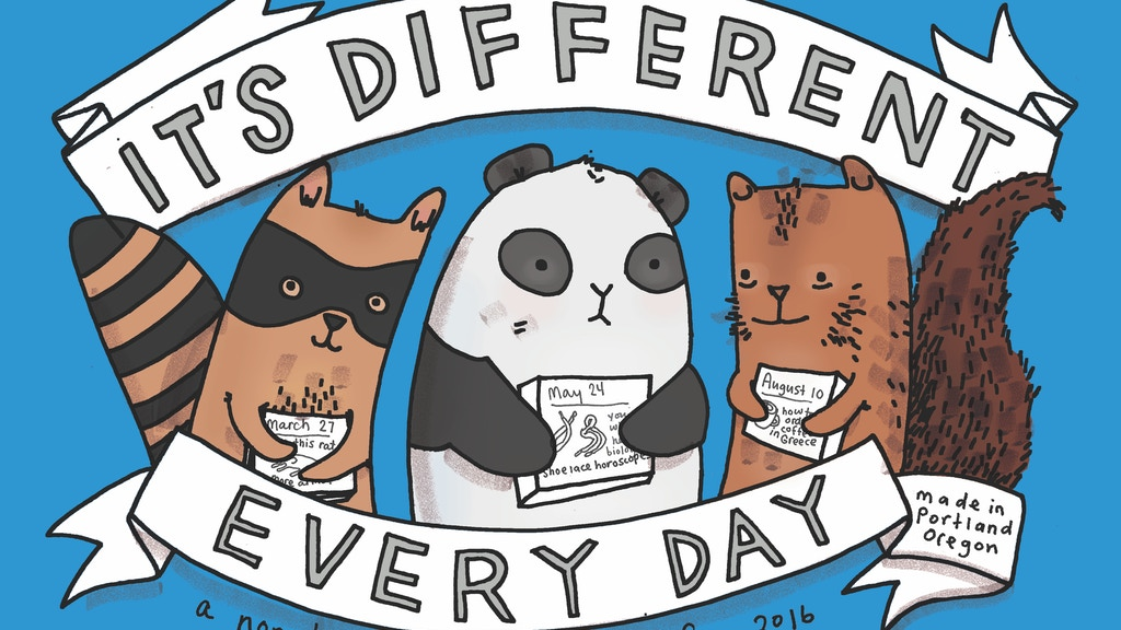 It's Different Every Day 2016 Calendar project video thumbnail
