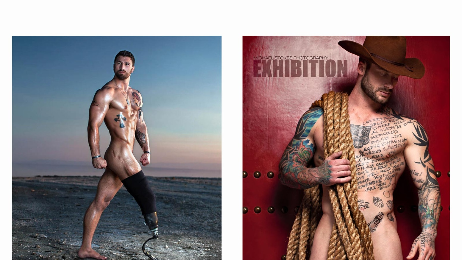 We will fund two large-scale, coffee table, art books.  One features wounded US veterans and the other explores male figure studies.