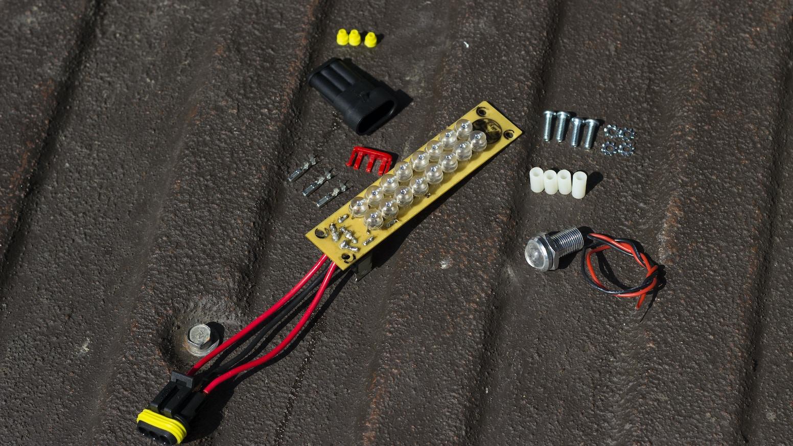 willys station wagon 12v led tail light kit