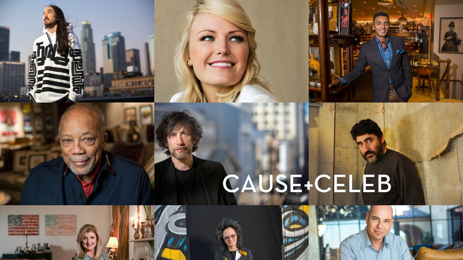 CAUSE + CELEB: 90 Portraits + 40 Causes + 1 Mission - Create Awareness to Create Change