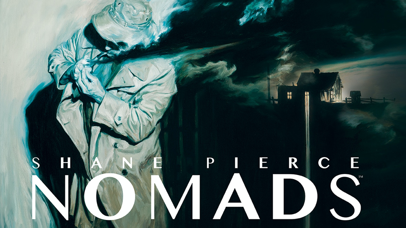 NOMADS, an art book that explores rambling dark figures in modern compositions mixed with contemporary noir.