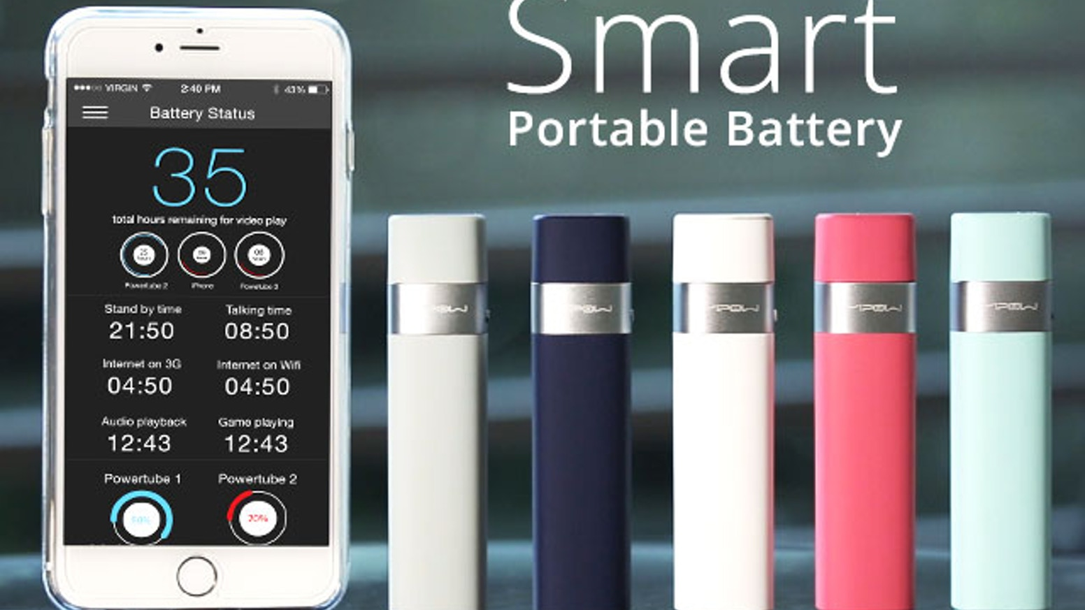 Power Tube: Your Smart, Portable & Powerful Phone Battery by