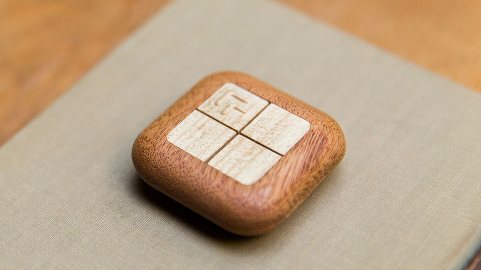 Instant control of Hue lights, smart devices, apps, and more — all from a beautiful mahogany remote.