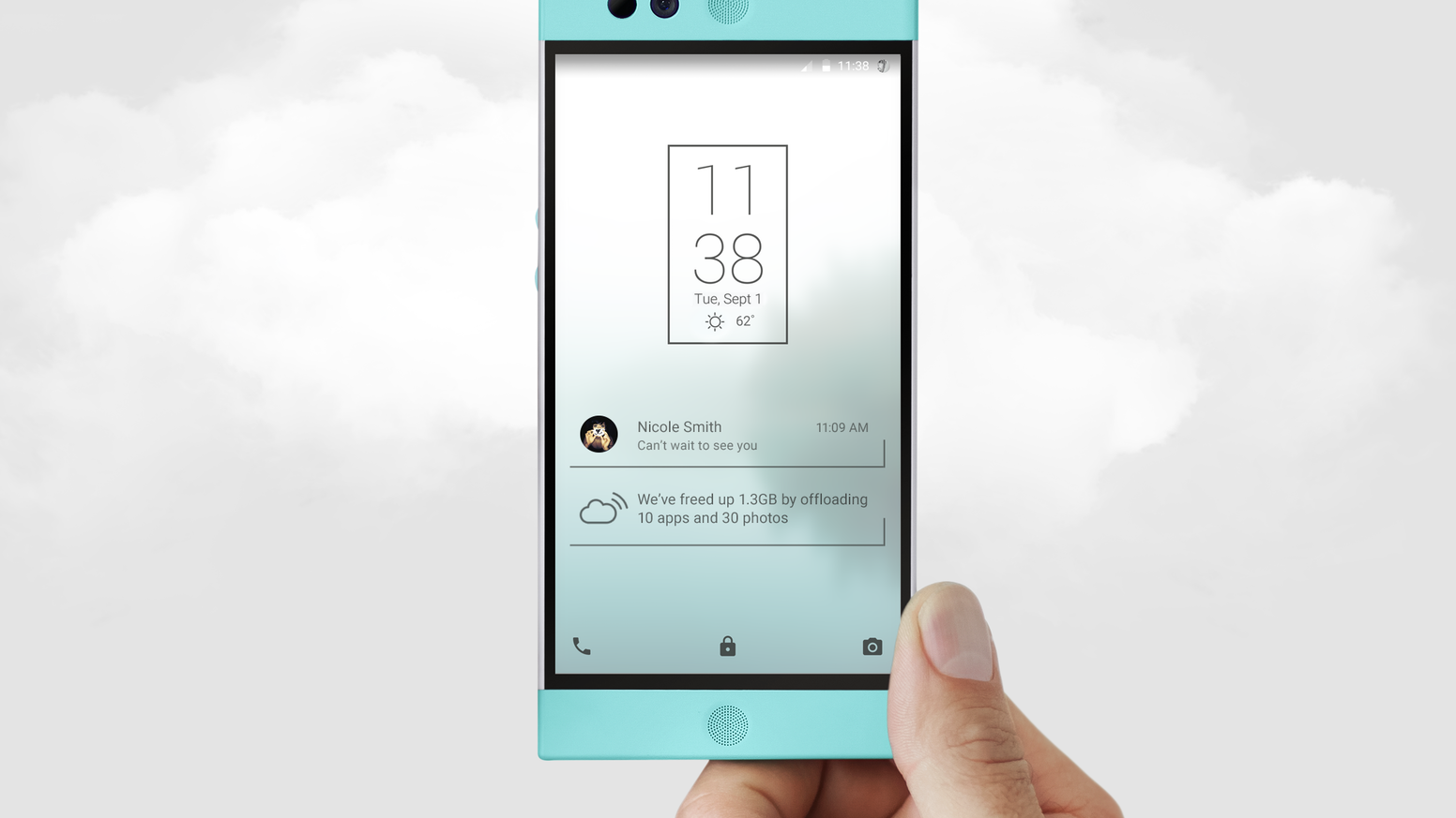 Robin is the only cloud-first smartphone. It gets smarter every day and makes running out of space history.