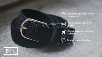 Beltline - A belt that stretches to fit your waist.