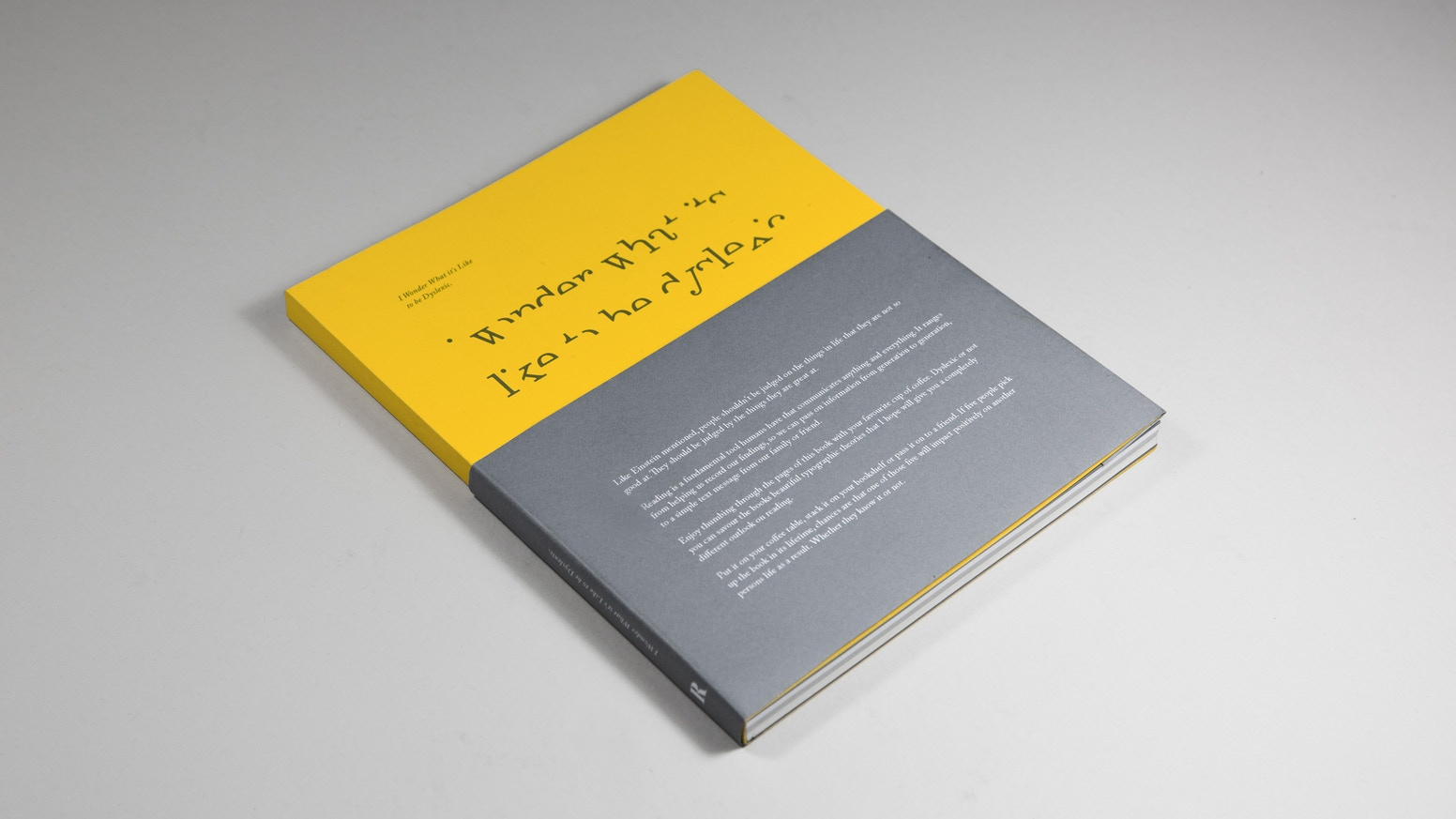 Helping you to understand the struggles of reading through beautiful printed typography