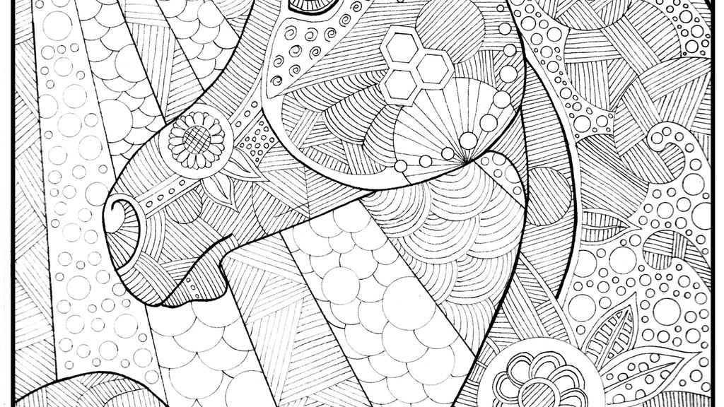 Adult Coloring Book Page Digital Weekly Subscription Service