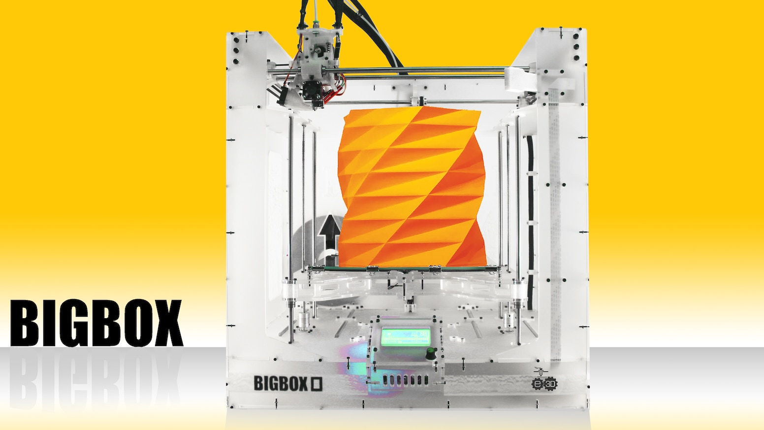A no-compromise, high-specification 3D-Printer, High Quality, Huge build capacity, OPEN SOURCE, capable of every 3D printing material.