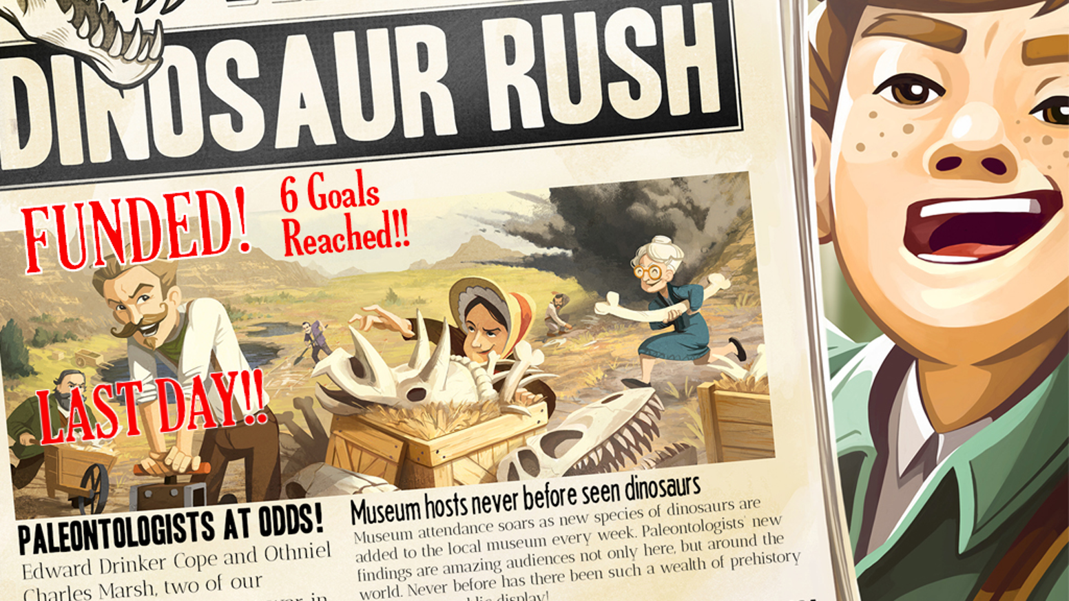 Scott Almes (designer of Tiny Epic Kingdoms) is back! You can still pre-order The Great Dinosaur Rush using the button below!