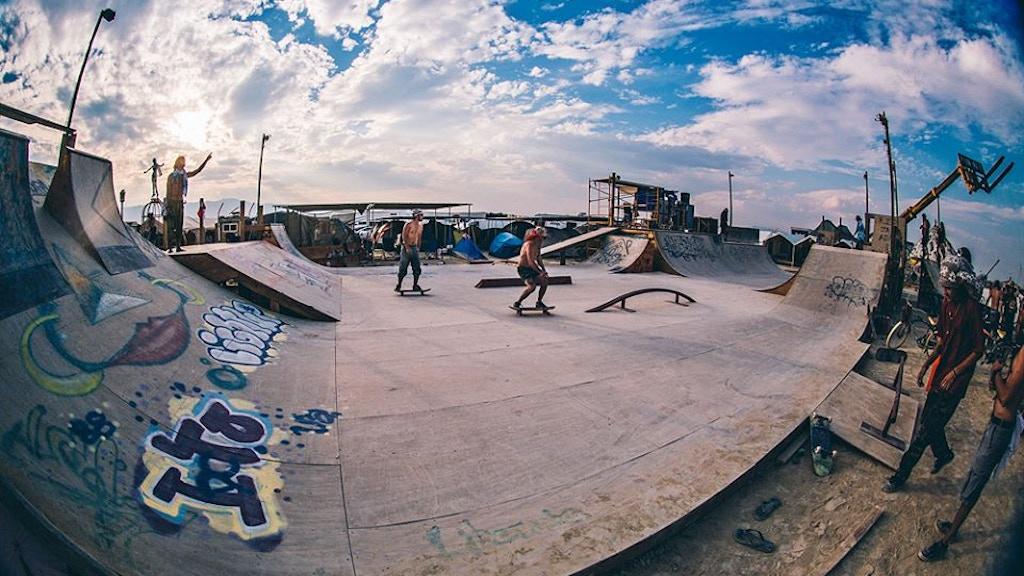 SK8 KAMP 2015 - Burning Man's Skateboard Park project video thumbnail