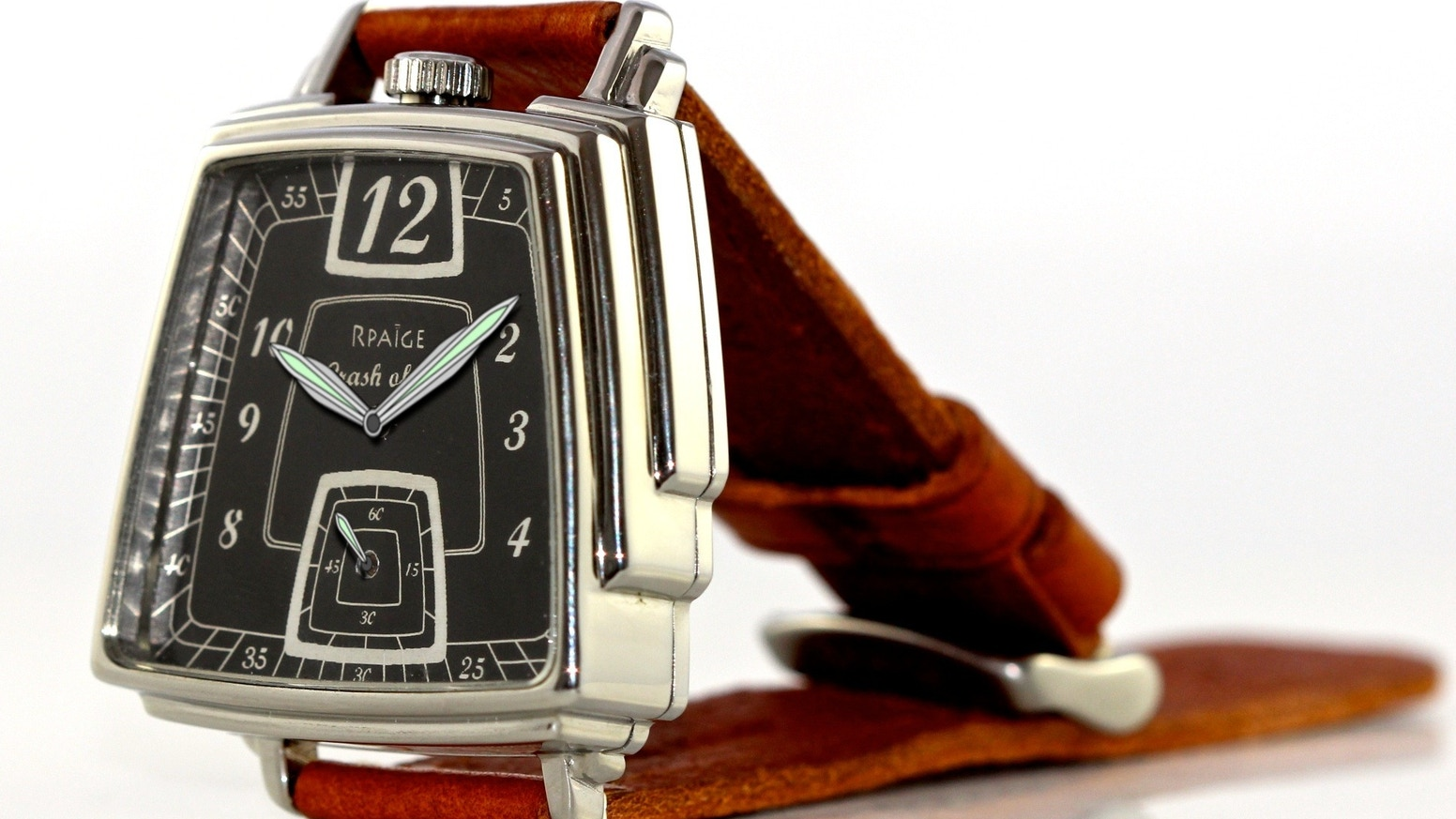 Limited Edition of 49 art deco watches with vintage American pocket watch movements.