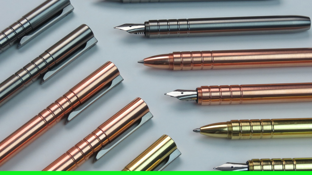 TiScribe: Titanium, Copper, Brass Fountain/Ballpoint EDC Pen project video thumbnail