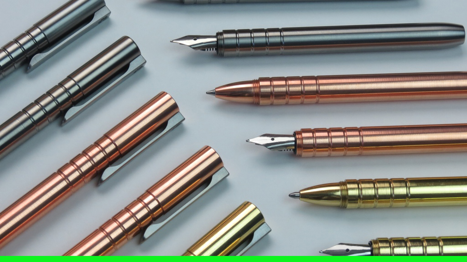 TiScribe™ is a 100% CNC machined pen that comes in two versions: Fountain Pen and Rollerball. MADE IN USA!