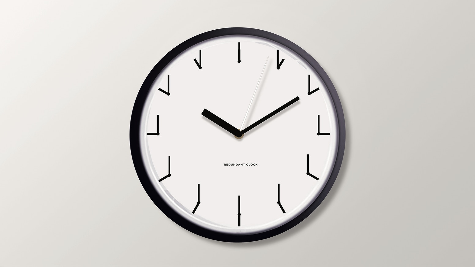 Redundant clock by ji lee kickstarter simple modern and totally redundant wall clock that shows what time it is amipublicfo Choice Image