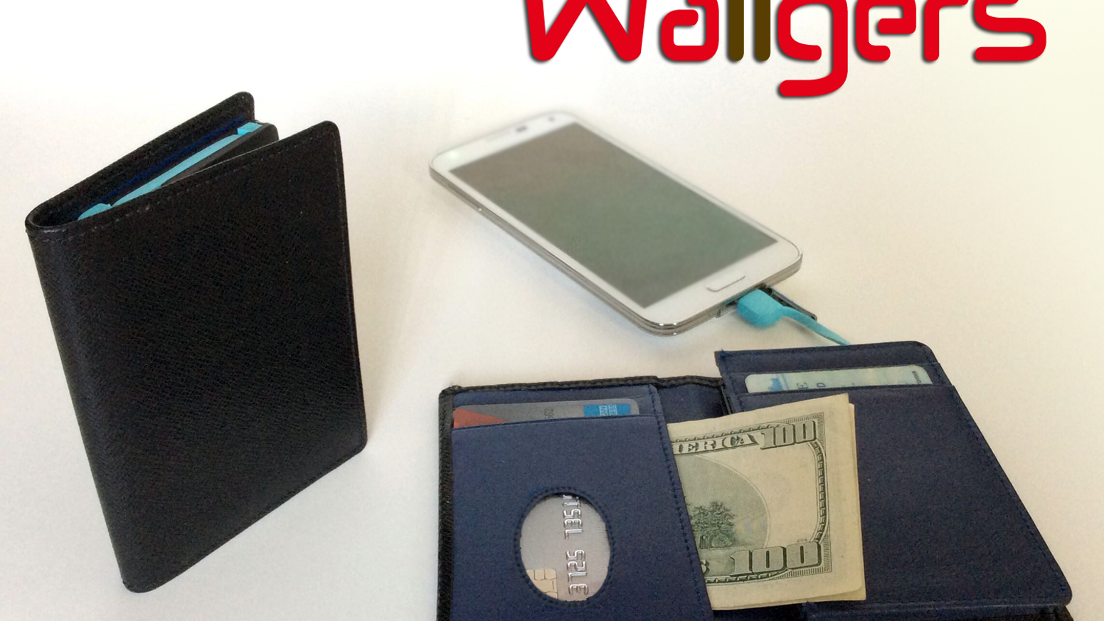 1st & ONLY leather wallet with built-in battery and cable to charge BOTH Apple + Android phones. Real RFID shields. Assembled in USA.     Missed our campaign? Pre-order below: