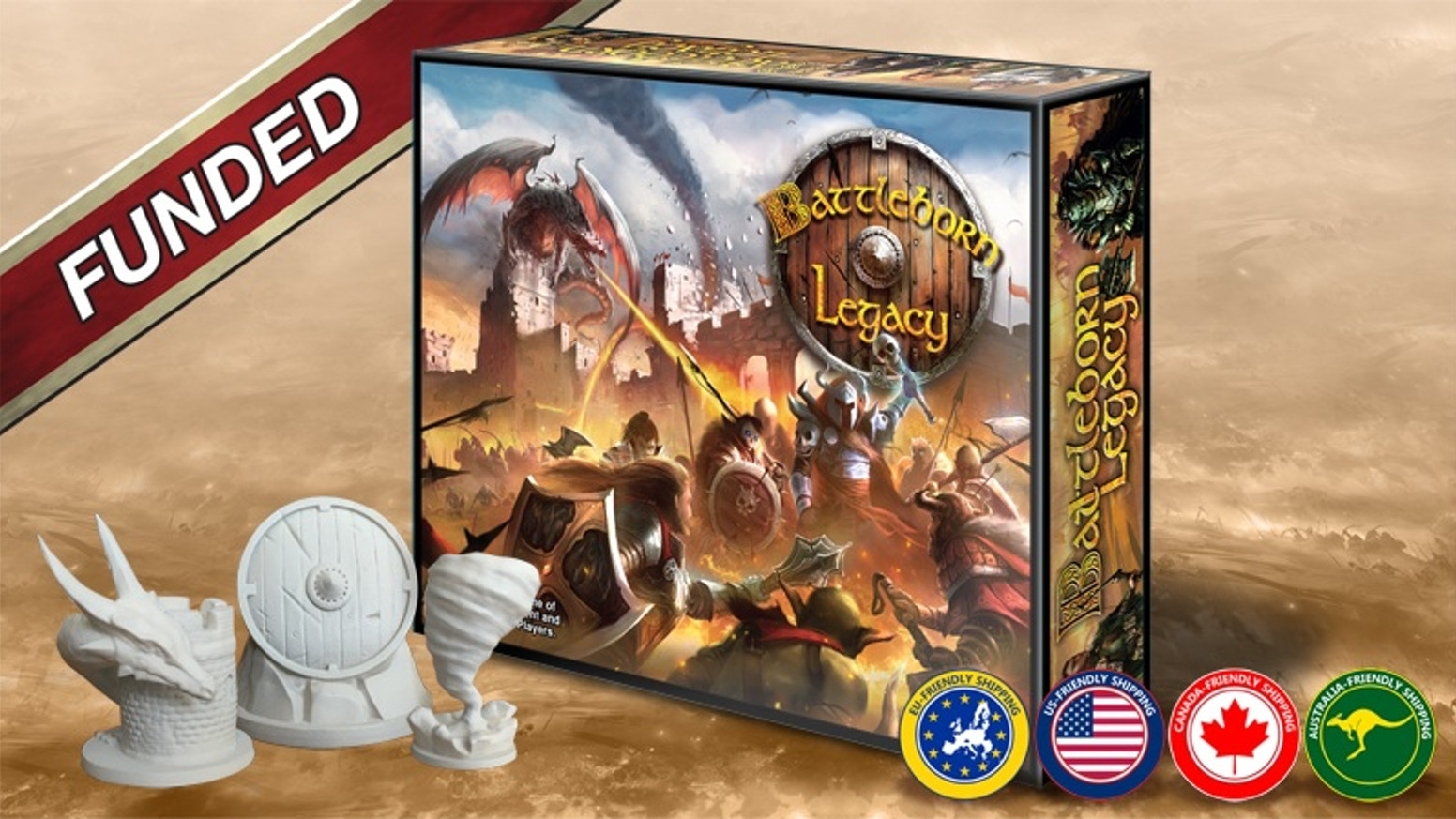 Choose a mighty Hero and lead massive armies to victory before the final cataclysm!  A strategic war game for 2-4 players.