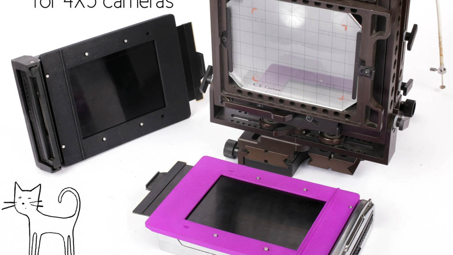 Instant pack film holder for 4X5 cameras by CatLABS