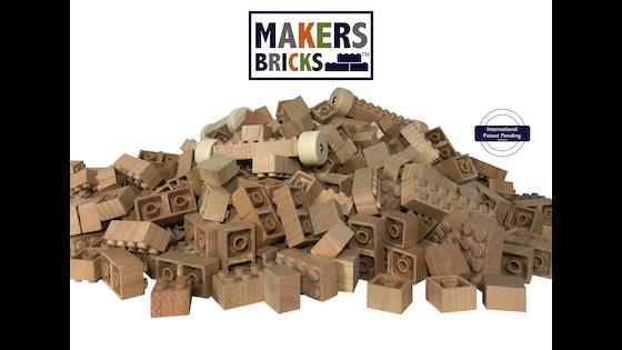 Track Makers Bricks -100% Wooden Bricks - Construction Toys's