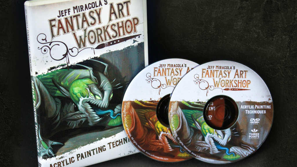 Jeff Miracola's Fantasy Art Acrylic Painting Technique Video project video thumbnail