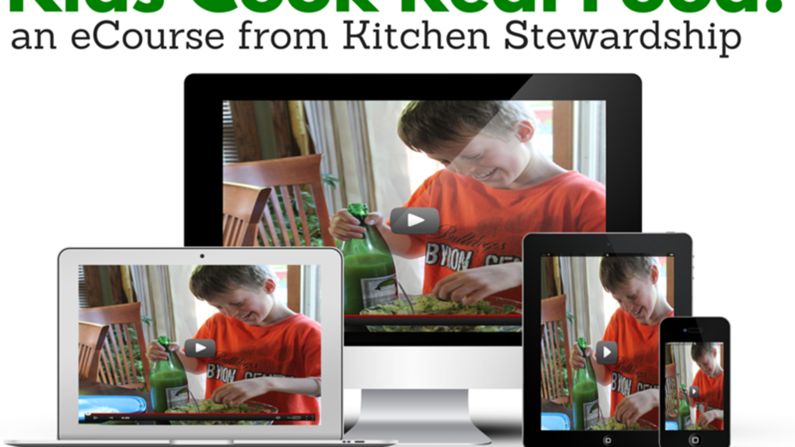 Invest in your child's health and future! Teacher and mom of 4 teaches kids 30+ vital kitchen skills and how to love real food.