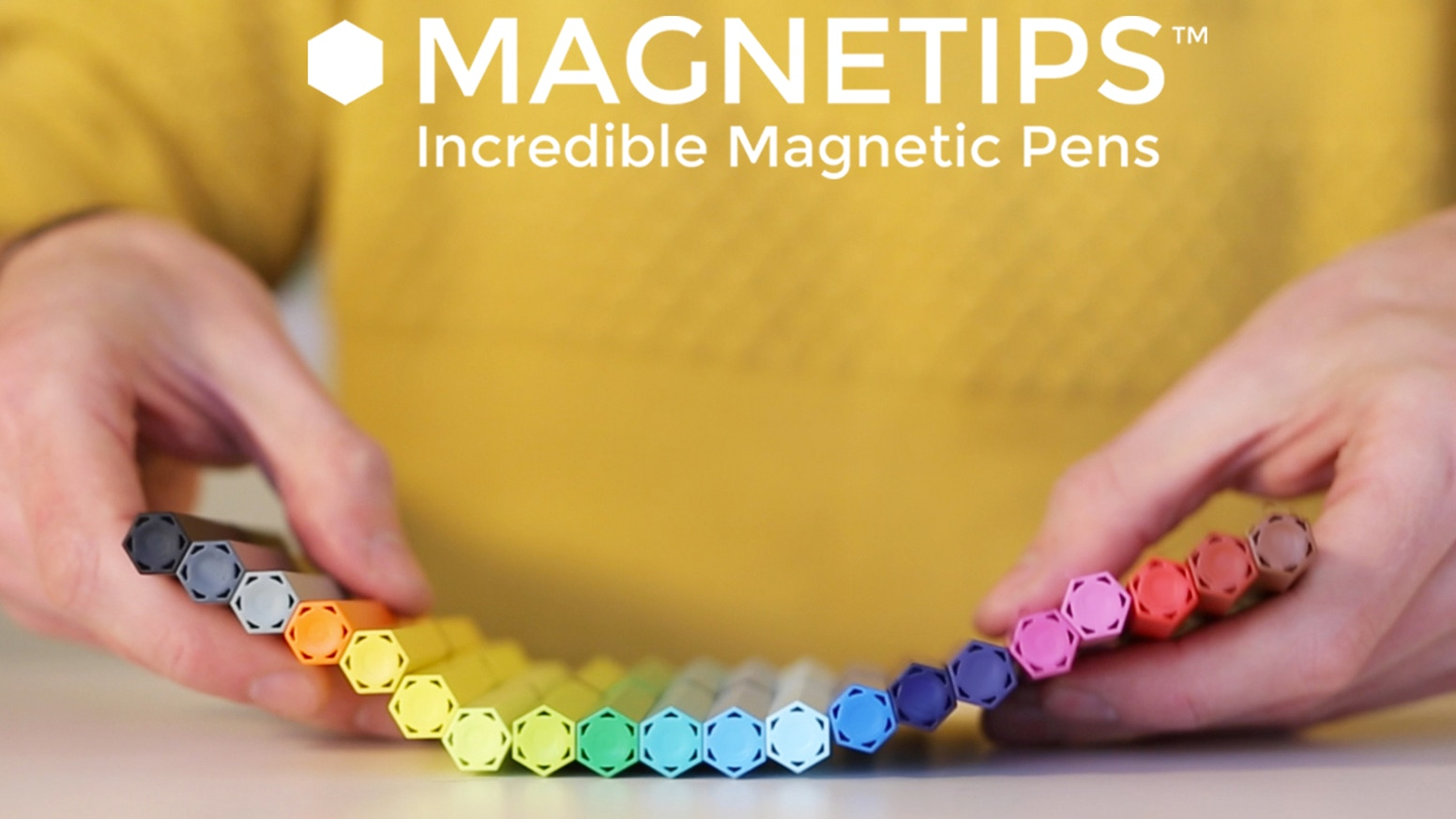 Refillable fineliners combined with super strong Neodymium magnets. Colouring is just the beginning!