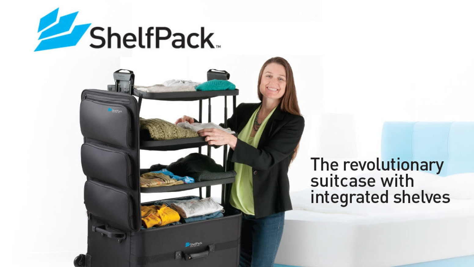 ShelfPack- the innovative new luggage with shelves that makes all your gear visible and accessible.